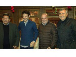 El ministro Carlos Oehler, el director Burman, el secretario de Medios Hernán Lombardi y el Gobernador Gerardo Morales en Purmamarca